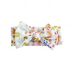 Headband Wildflower Bamboo Bow