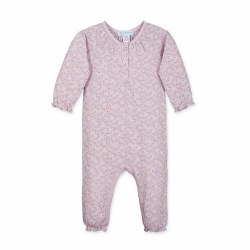 Ruched Romp Avery Pink 0-3M