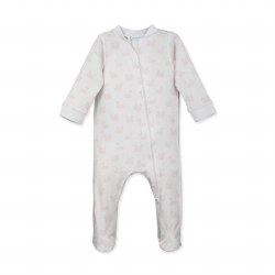 Zipper Footie Swan Wht 0-3M