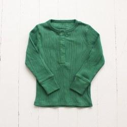 LS Snap Top Sch Hs Green 6-12M