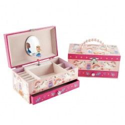 Musical Jewelry Box- Rainbow Woodland