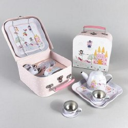 Tin Tea Set- Fairy Unicorn