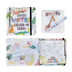 Magic Water Color Cards Jungle