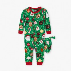 Holiday Ornament PJ&Hat 3-6M