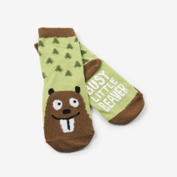 Busy Little Beaver Socks 4-7