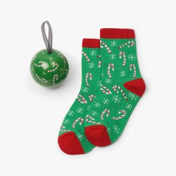 Sock Ball Candy Canes 4-7