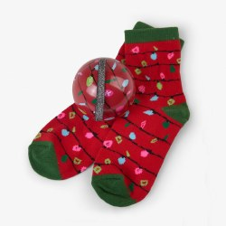 Sock Ball North Lights Red 4-7