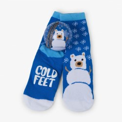 Sock Ball Snowbear Blue 4-7