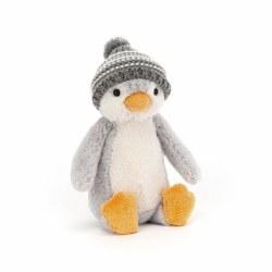 Bashful Bobble Hat Penguin Grey