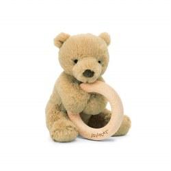 "Shooshu Bear Wooden Ring 6"""