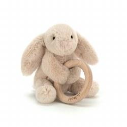 "Shooshu Bunny Wooden Ring 6"""