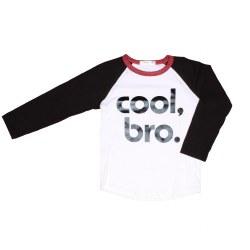 Cool Bro Raglan Top Blk/Wht 2