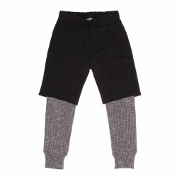 2-Fer Pants Black 4