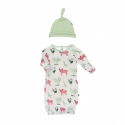 Farm Animal Hat & Gown 0-3M