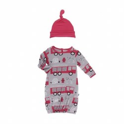 Firefighter Gown & Hat 0-3M