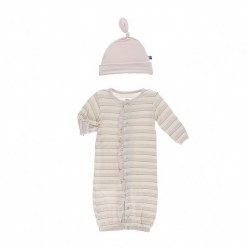 Sweet Stripe Gown & Hat NB