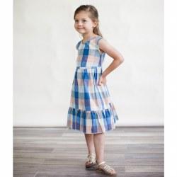 Chloe Dress Blue Chex 2