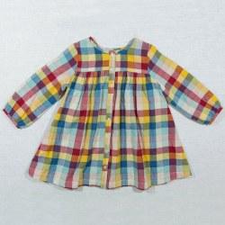Cleo Dress Rainbow Chex 5