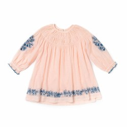 Tulip Dress Emb Pink 4