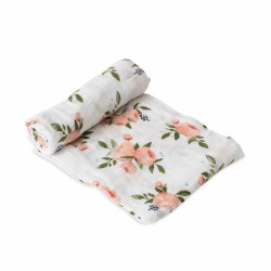 Muslin Swaddle- Watercolor Roses