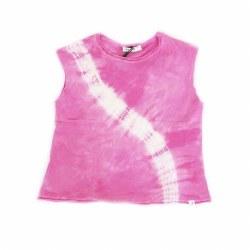 Boxy Tank Pink Light Tie Dye 2