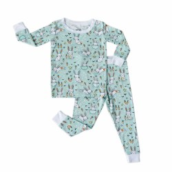 Bunnies Mint PJ Set 2