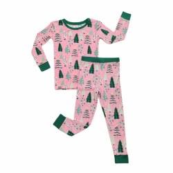 Twinkling Tree PJ Set Pink 2