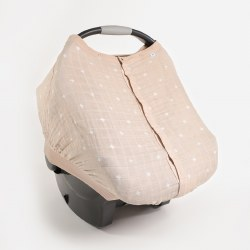 Car Seat Canopy Taupe Cross