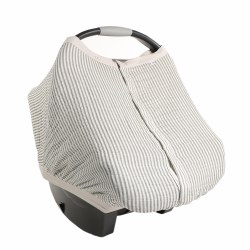 Car Seat Canopy Grey Stripe