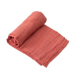 Muslin Swaddle- Dusty Rose
