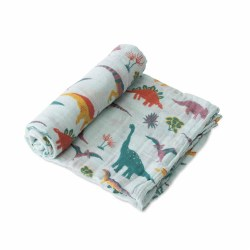 Muslin Swaddle- Embroidosaurus