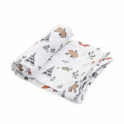 Muslin Swaddle- Forest Friends