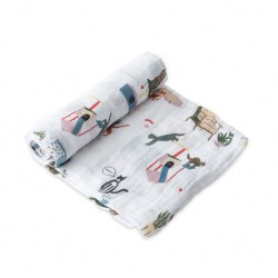 Muslin Swaddle- Meow