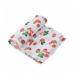Muslin Swaddle- Strawberry Patch