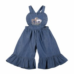 Unicorn Love Frill Overall NB