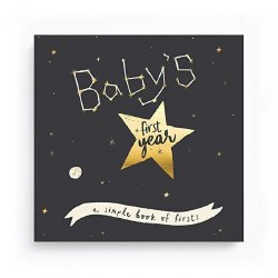 Baby's First Year Golden Stargazer Memory Book