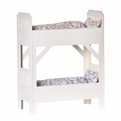 Maileg Small Wooden Bunk Beds- White