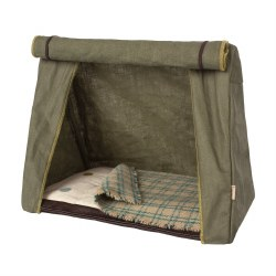 Maileg Happy Camper Mouse Tent Olive