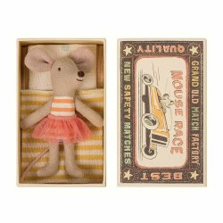 Matchbox Mouse- Little Sister in Orange Stripes and Tutu