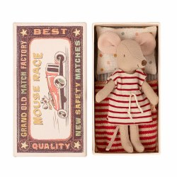 Matchbox Mouse Big Sister in Red Stripes