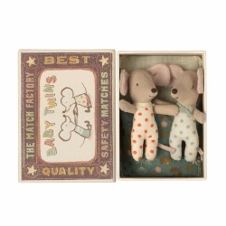 Matchbox Mouse Baby Twins Dots