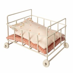 Maileg Metal Micro Baby Cot Pink