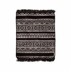 Miniature Woven Rug Black