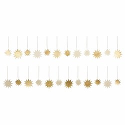 Gold Paper Stars 24 Piece