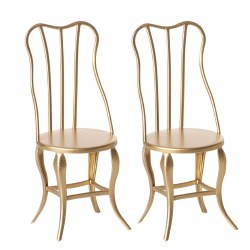Maileg Vintage Chair Set Gold