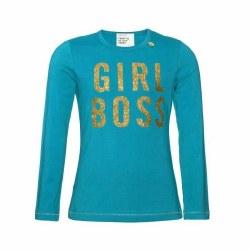 Girl Boss LS Tee Turquoise 5