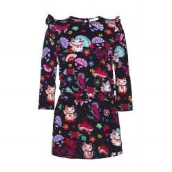 Lucky Cat Ruffle Dress 8