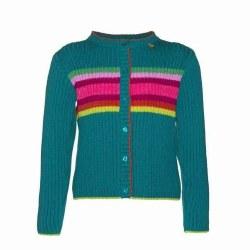 Rainbow Stripe Cardigan Trq 4