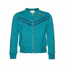 Ruffle Zip Jacket Turquoise 6