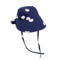 Dot Sun Cap-Navy 3-9Y